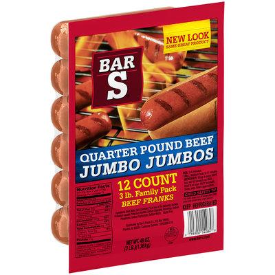 Bar-S® Quarter Pound Beef Jumbo Jumbos® Franks 48 oz. Package