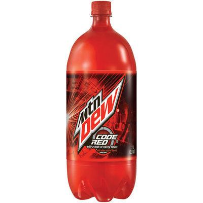 Mountain Dew Code Red Cherry Flavor Soda 2L Plastic Bottle