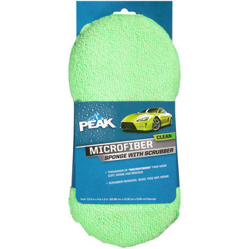 PEAK™ Microfiber Sponge with Scrubber Sleeve