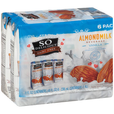 So Delicious® Dairy Free Vanilla Almondmilk Beverage 6-8 fl. oz. Aseptic Pack