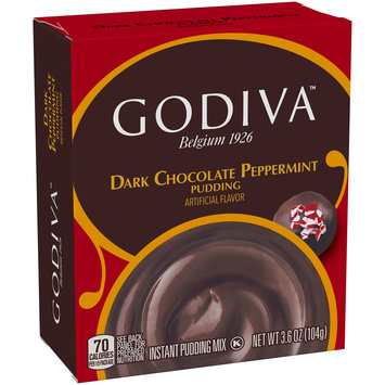 Godiva™ Dark Chocolate Peppermint Instant Pudding Mix 3.6 oz. Box