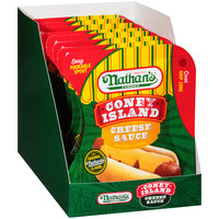 Nathan's® Famous Coney Island Cheese Sauce Hot Dog Topping 4.5 oz. Pouch