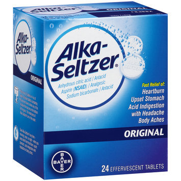 Alka-Seltzer® Original Effervescent Tablets 24 ct Box