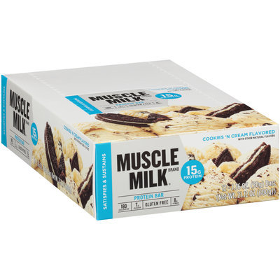 Muscle Milk® Cookies 'N Cream Flavored Protein Bars 12-1.76 oz. Bars
