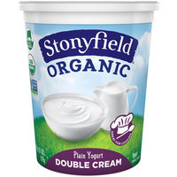 Stonyfield® Organic Double Cream Plain Yogurt 31 oz. Tub