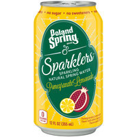 POLAND SPRING Brand Sparklers Sparkling Natural Spring Water, Pomegranate Lemonade 12-ounce can
