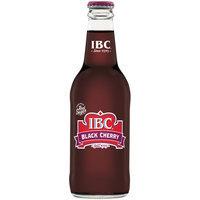 IBC Black Cherry Made with Sugar, 12 Fl Oz Glass Bottle,