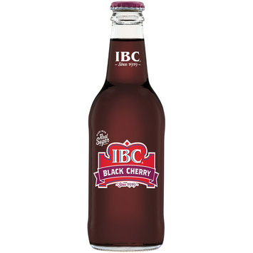 IBC Black Cherry Made with Sugar, 12 Fl Oz Glass Bottle,