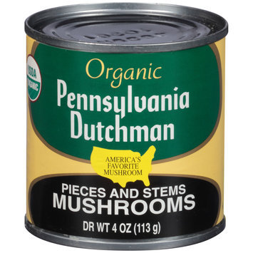 Pennsylvania Dutchman Organic Pieces and Stems Mushrooms 4 oz. Can