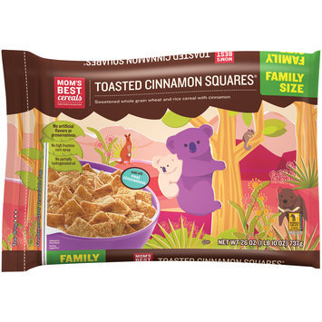 mom's best® toasted cinnamon squares® cereal