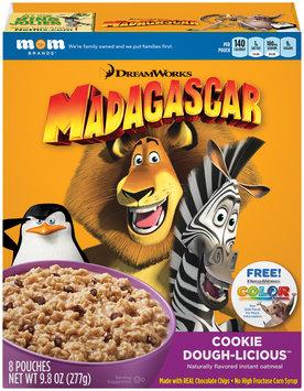 Mom Brands® DreamWorks Madagascar Cookie Dough-Licious™ Instant Oatmeal 9.8 oz. Box