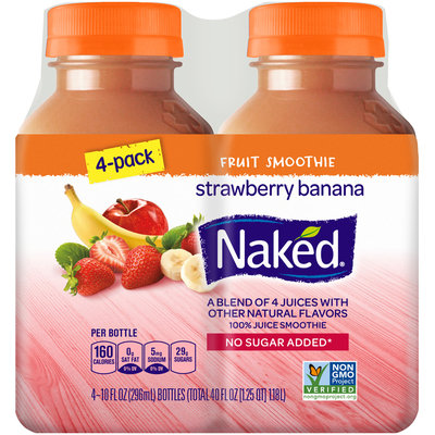 Naked® Strawberry Banana 100% Juice Smoothie 4-10 fl. oz. Bottles