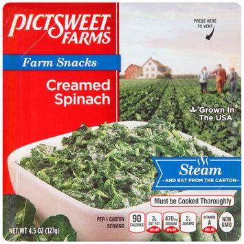 Pictsweet Farms® Farm Snacks Creamed Spinach 4.5 oz. Carton