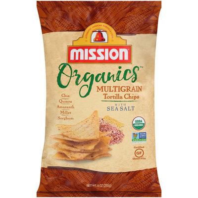 Mission® Organics™ Multigrain Tortilla Chips with Sea Salt 9 oz. Bag