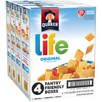 Quaker® Life Multigrain Cereal Pantry Friendly Boxes Variety Pack