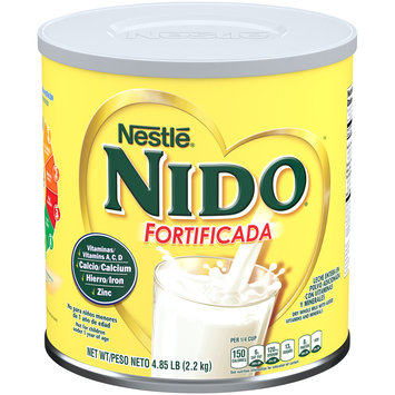NESTLE NIDO Fortificada Dry Milk 4.85 lb. Canister