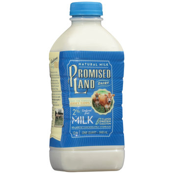 Promised Land All Natural Reduced Fat 2% Milk, .5 gal
