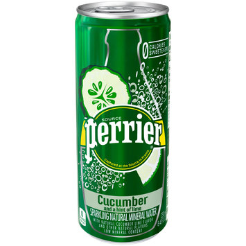 PERRIER Sparkling Natural Mineral Water, Cucumber Lime 8.45-ounce can