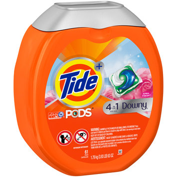 Tide® + 4-in-1 Downy® April Fresh™ Laundry Detergent PODS™ 61 ct Plastic Container