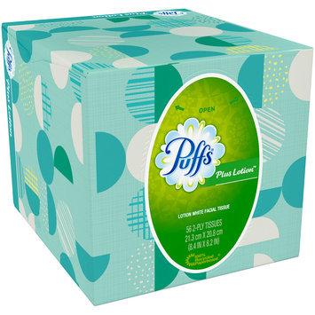 Plus Puffs Plus Lotion Facial Tissues, 1 Cube, 56 Tissues per Cube