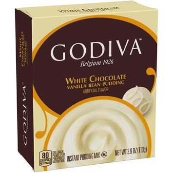 Godiva™ White Chocolate Vanilla Bean Instant Pudding Mix 3.9 oz. Box