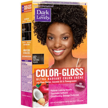 Softsheen-Carson® Dark And Lovely® Color-Gloss Ultra Radiant Color Creme 02 Natural Black 1 kt Box