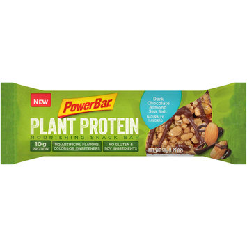 PowerBar® Plant Protein Dark Chocolate Almond Sea Salt Nourishing Snack Bar 1.76 oz Wrapper