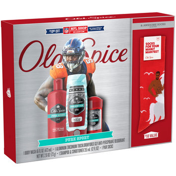 Old Spice Pure Sport NFL Gift Set with Socks 3 pc Box