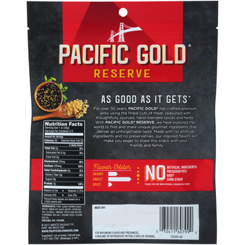 Pacific Gold® Reserve Sweet Korean BBQ Recipe Pork Jerky 2.5 oz. Pack