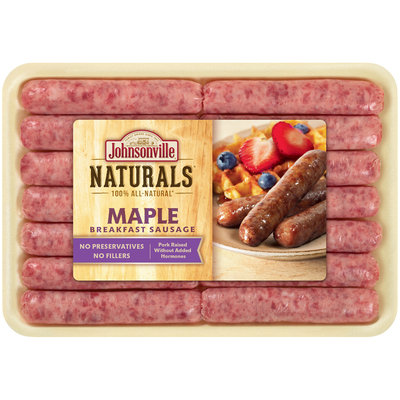 Johnsonville® Naturals Maple Breakfast Sausage 10 oz. Tray