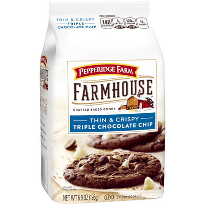 Pepperidge Farm® Farmhouse™ Thin & Crispy Triple Chocolate Chip Cookies