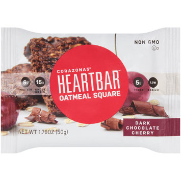 Corazonas® Heartbar™ Dark Chocolate Cherry Oatmeal Square Bar 1.76 oz. Wrapper