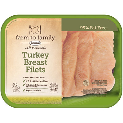 Butterball® Farm to Family™ All Natural Turkey Breast Filets