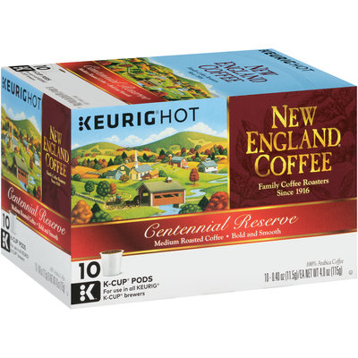 New England® Coffee Centennial Reserve Medium Roasted Coffee K-Cups 10 ct Box