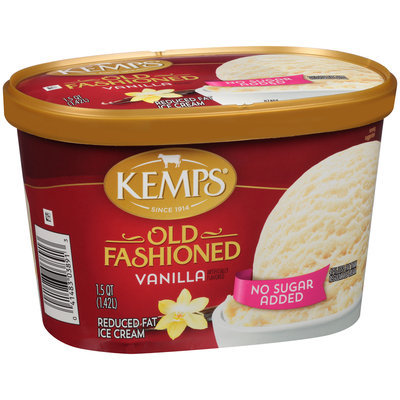 Kemps® No Sugar Added Old Fashioned Vanilla Reduced Fat Ice Cream 1.5 qt. Tub