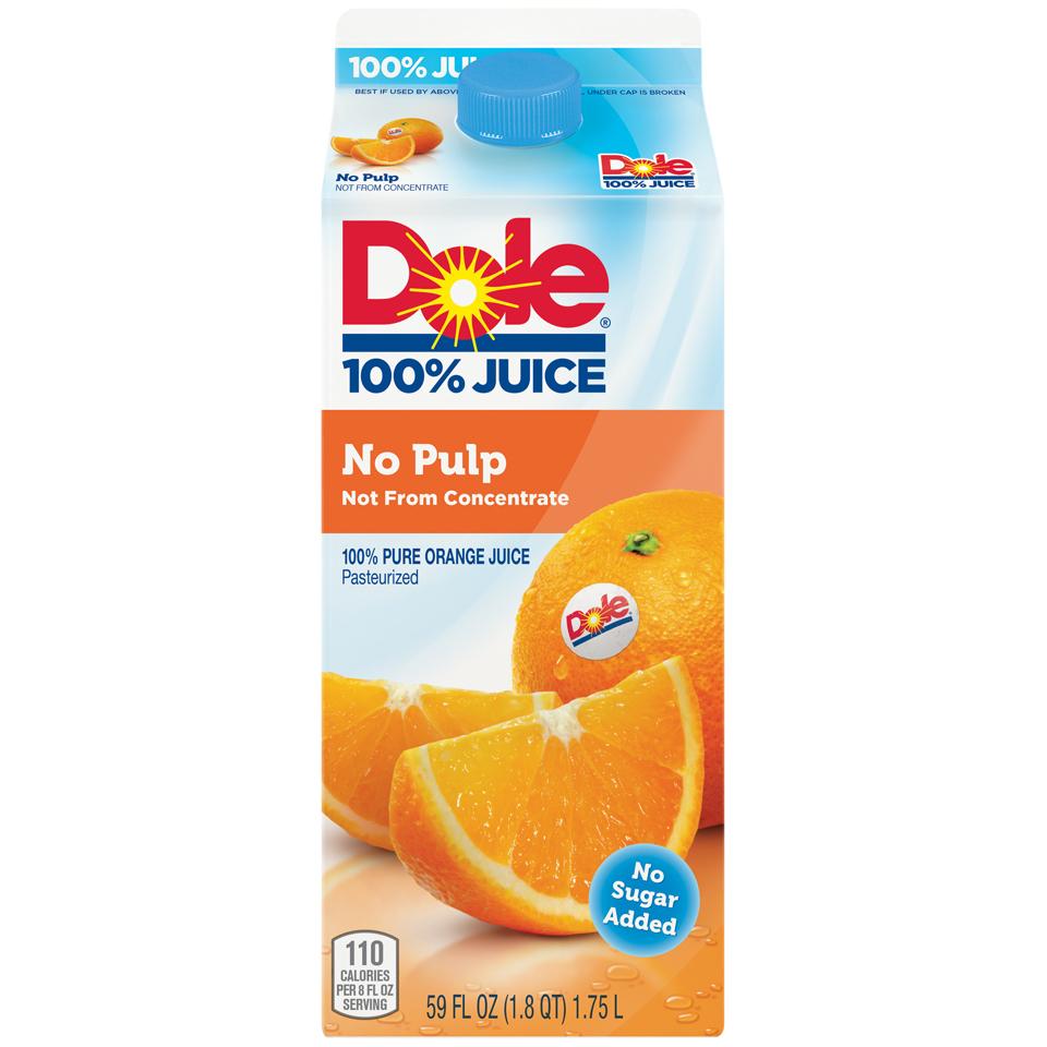 Dole 100% No Pulp Orange Juice