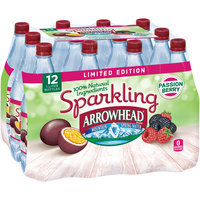ARROWHEAD Brand Sparkling Mountain Spring Water, Passion Berry 33.8-ounce plastic bottles