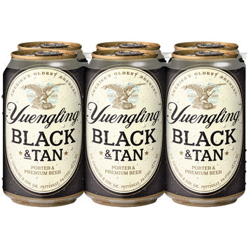 Yuengling® Black & Tan Porter & Premium Beer 6-12 fl. oz. Cans