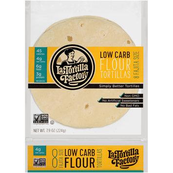 La Tortilla Factory™ Fajita Size Low Carb Flour Tortillas 7.62 oz. oz. Bag