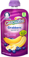 Gerber® Graduates® Grabbers® Banana Blueberry Squeezable Fruit 4.23 oz. Pouch (Pack of 12)