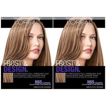 L'Oreal® Paris Frost & Design® Highlights H65 Caramel 2-1 Kit Boxes