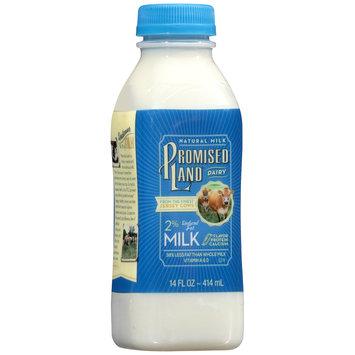 Promised Land Dairy® 2% Reduced Fat Milk 14 fl. oz. Bottle