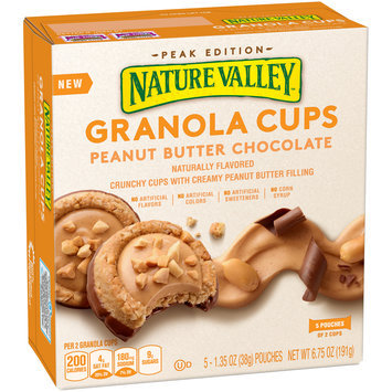 Nature Valley™ Peak Edition Peanut Butter Chocolate Granola Cups 5-2 ct Pouches