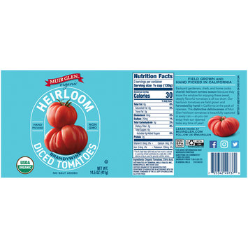 Muir Glen™ Organic Diced Heirloom Brandywine Tomatoes 14.5 oz Can