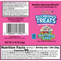 Kellogg's® Rice Krispies Treats™ Birthday Cake Crispy Marshmallow Squares