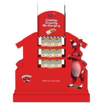 The Laughing Cow® Cheese Dippers Display Snack Crackers