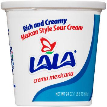 LaLa® Mexican Style Sour Cream 24 oz. Tub