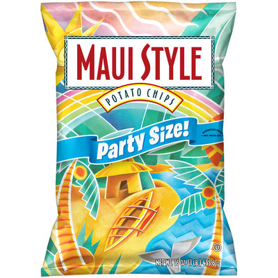 Maui Style Party Size Potato Chips 16 oz. Bag