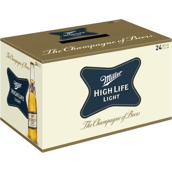 Miller High Life Light Beer 24-12 fl. oz. Glass Bottles