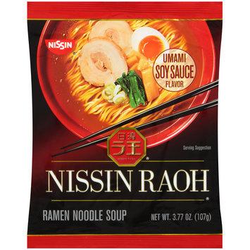 Nissin® Nissin Raoh® Umami Soy Sauce Flavor Ramen Noodle Soup 3.77 oz. Pack